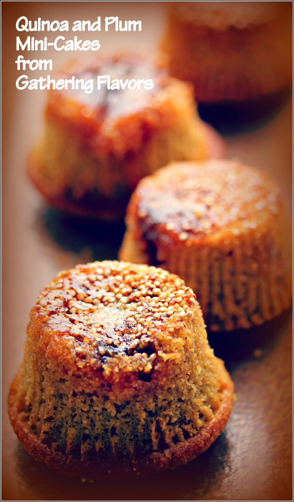 Quinoa & Plum Mini Cakes