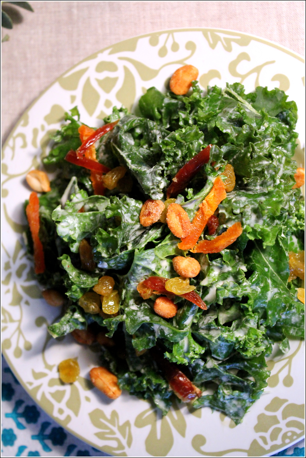 Green Salad with Kale, Tahini & LIme