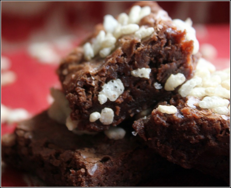 Chocolate Krispie Brownies
