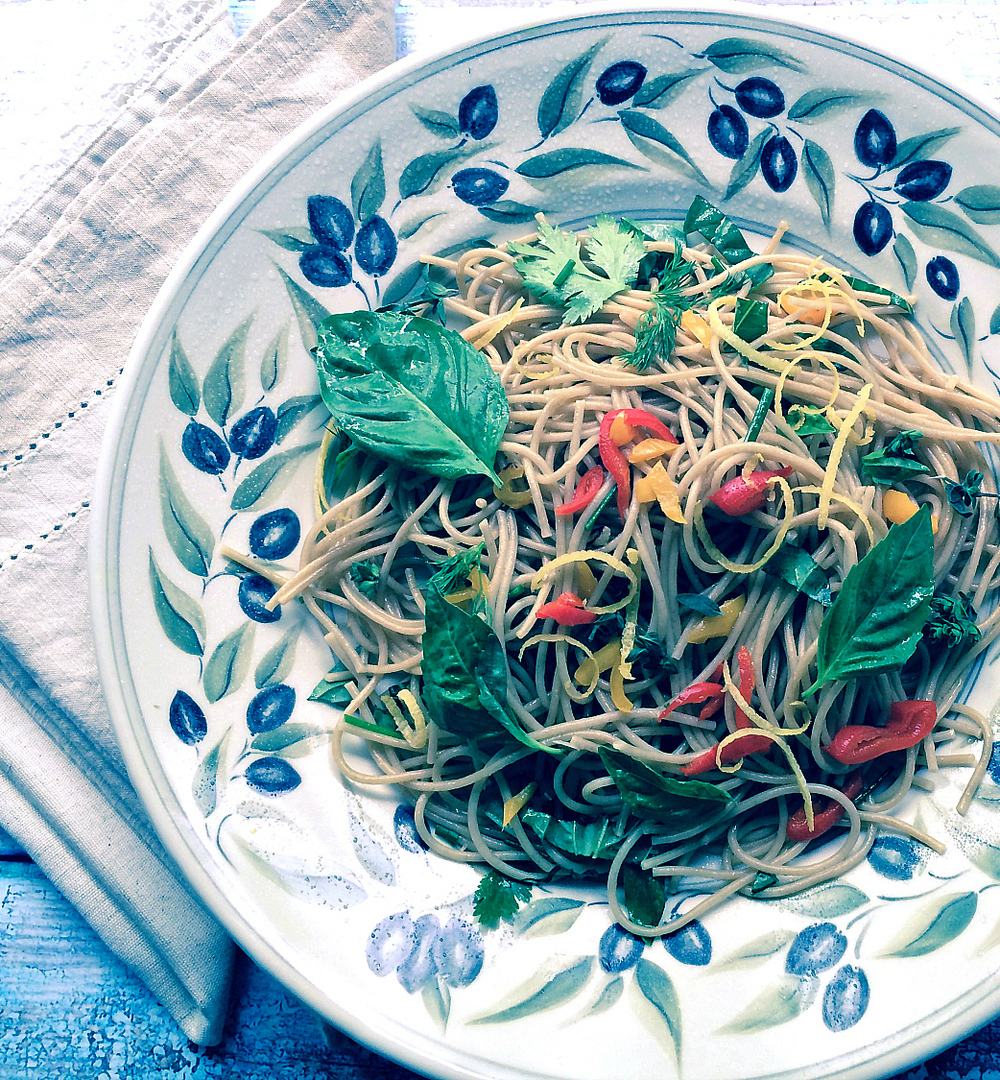 Spaghetti with Herbs & Lemon