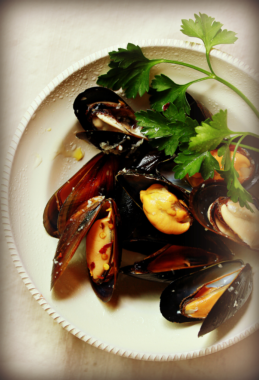Simple Steamed Mussels by Dena T Bray