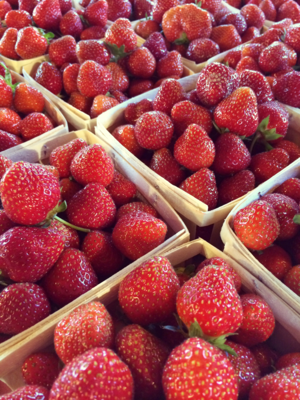 Strawberries At Market by Dena T Bray