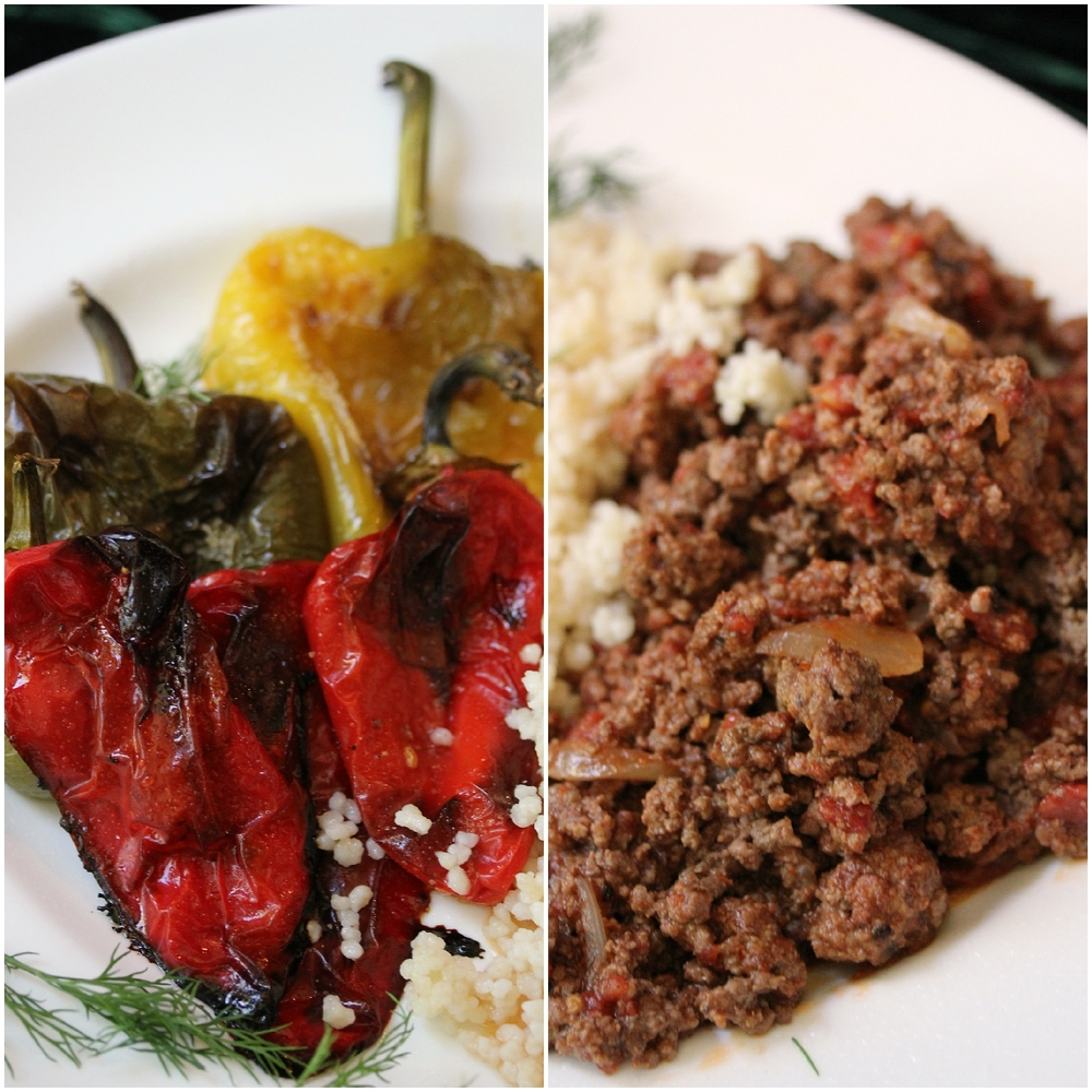 Roasted Peppers with Couscous and Beef by Dena T Bray