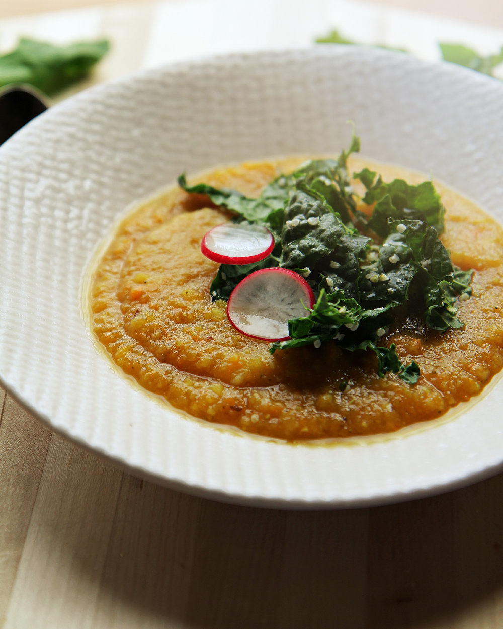 ©Roasted Carrot & Potato Soup with Kale Salad by Dena T Bray