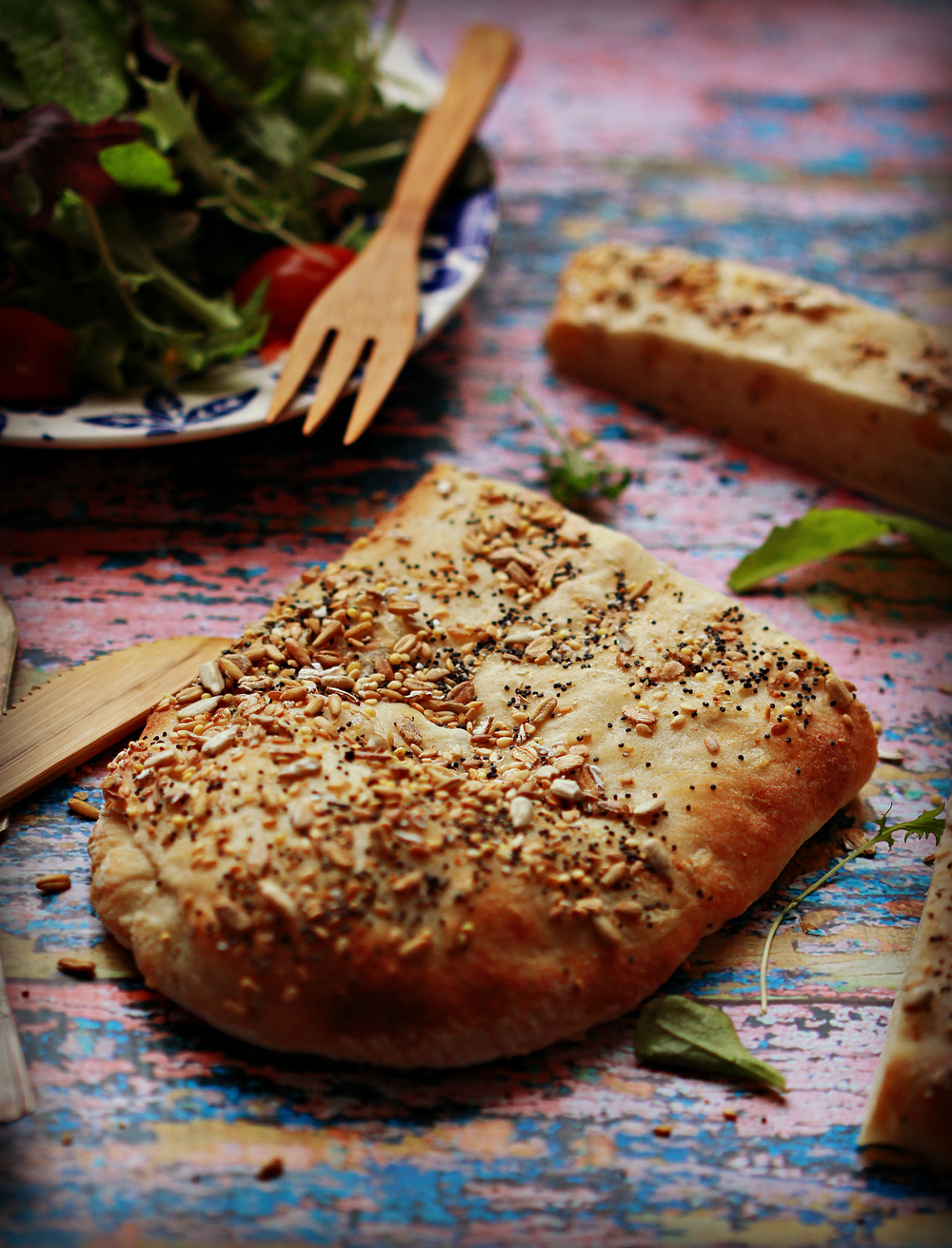 Iranian Flatbread with Harvest Grains