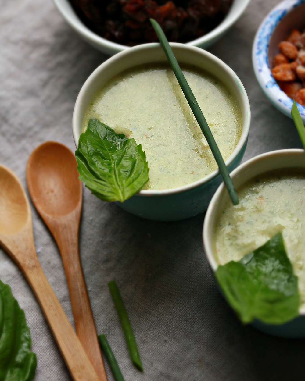 © Cold Cucumber and Yogurt Soup by Dena T Bray