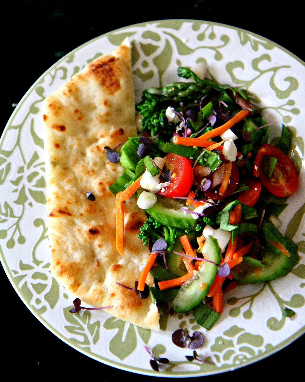 Spring Salad with Naan