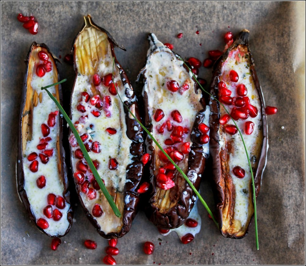 Eggplant with Pomegranates