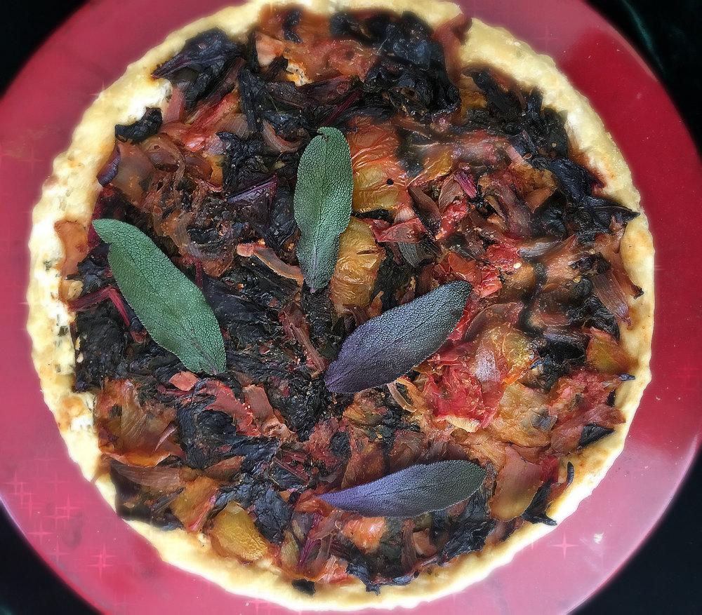 Tomato & Chard Tart by Dena T Bray