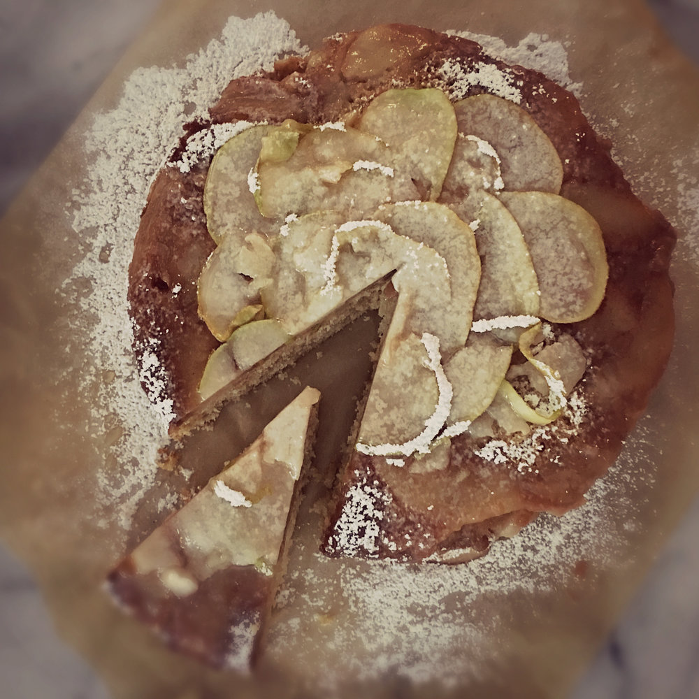 ©Pear Cake with Slice by Dena T Bray.jpg