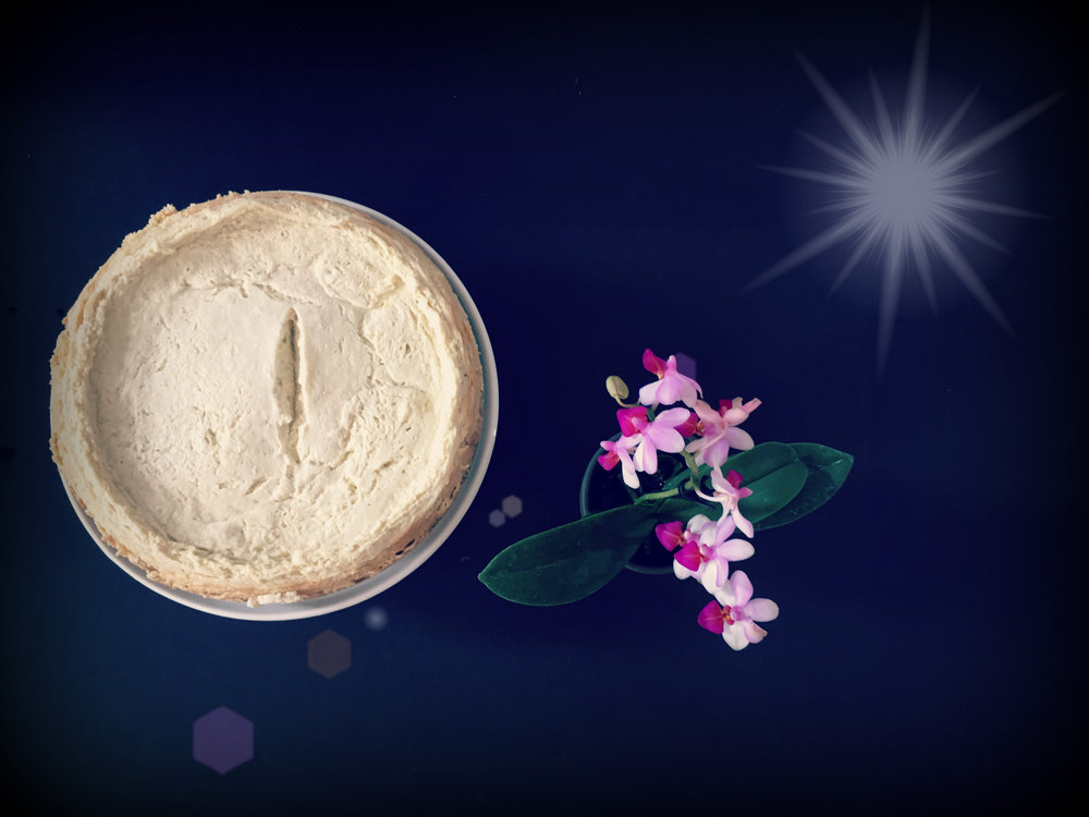 ©Simple Cheesecake and Flower Vignette with Lens Flare.jpg