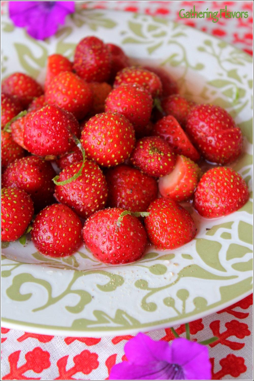 Strawberries Marinated in Wine & Honey