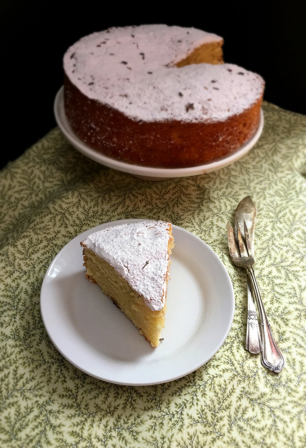 Lemon & Lavender Cake - Yield: One 8-inch Round Cake, about 6 servings