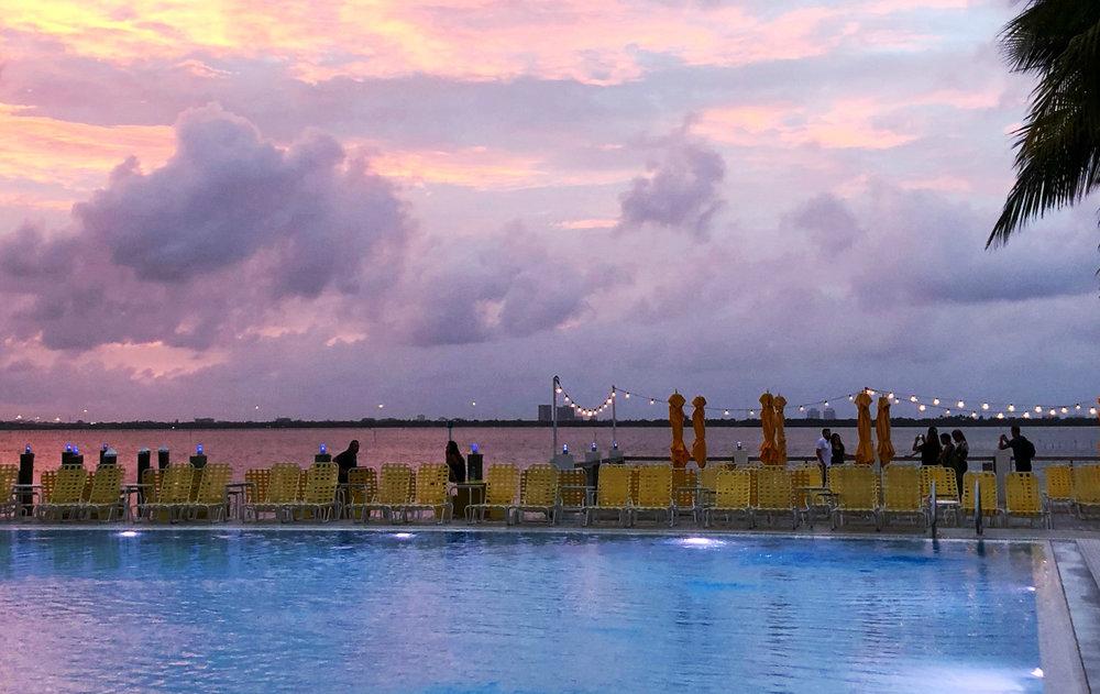 Sunset. Miami, Florida