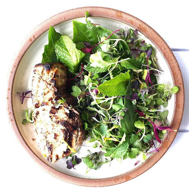 Grilled Swordfish with Spring Herb Salad. Coming next on Gathering Flavors. #swordfish #freshherbs #gatheringflavors