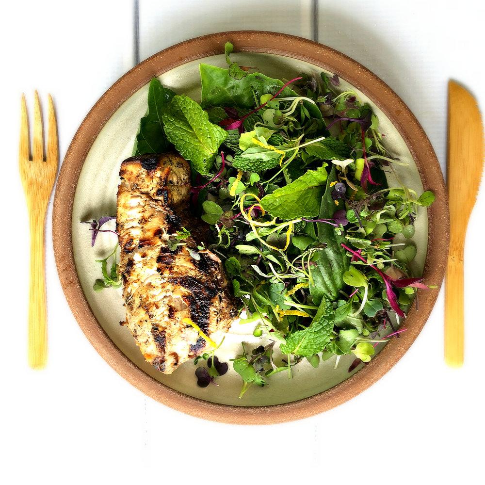 ©Grilled Swordfish with Spring Salad by Dena T Bray.jpg