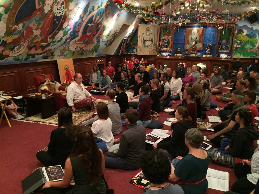 "t.k. teaching the esoteric contemplative Dzogchen Tantra of Dorje Trollo at Tsogyelgar's Summer Retreat. ""God has not created us for self-dominion, but as instruments of his wonder."" – The mystic Jacob Boehme"
