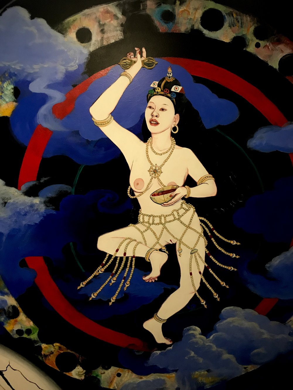 The great female mystic, yogini and Buddha Yeshe Tsogyel who helped to establish the systems of Tantra and Dzogchen in Tibet, India and Nepal.