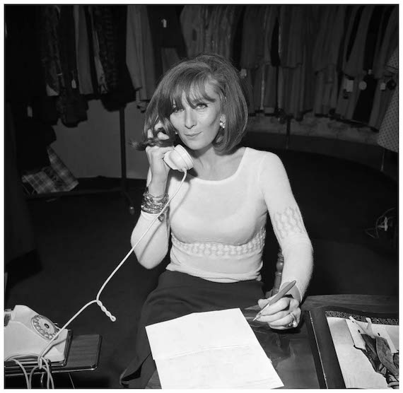 Sonia Rykiel in her boutique.