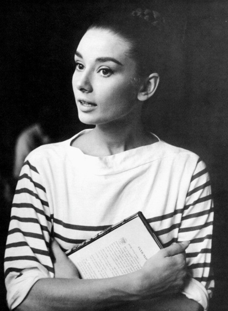 Audrey Hepburn wearing the 'Poor Boy Sweater'