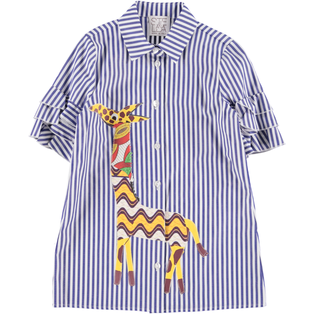 'Costellazione' Stripe Shirt Dress