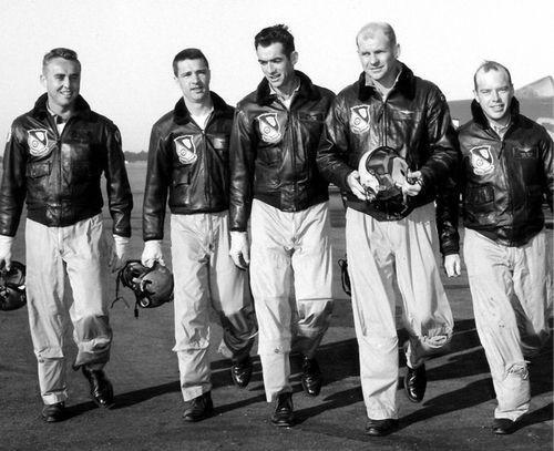 USN Pilots Wearing G-1 Bomber Jackets
