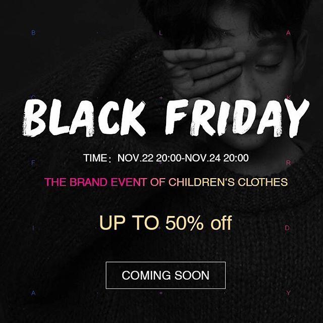 BLACK FRIDAY SALE  Nov. 22nd 20:00 - Nov. 24th 20:00  Up to 50% off on selected lines  #blackfriday #cloudokids #cloudo #kids #kidsfashion #childrensfashion #sale #fashion #momsofinstagram #dadsofinstagram #shopping #cloudosale #cloudokids