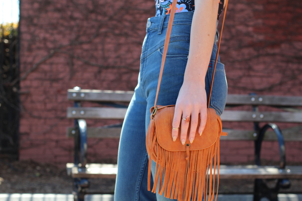 i think therefore i dress - fringe bag