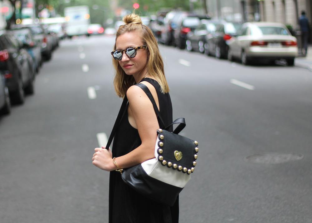 illesteva sunglasses black and white backpack