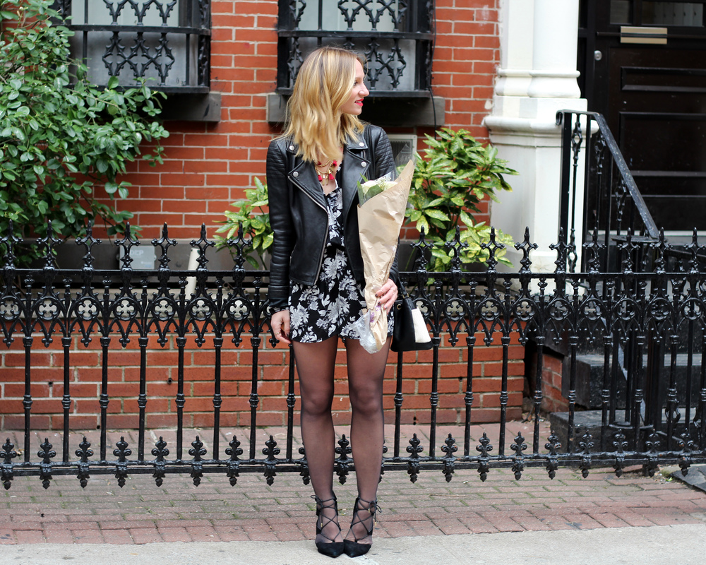 valentine's day outfit ideas black and white romper