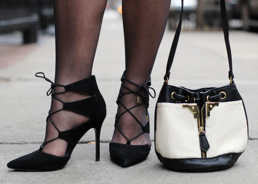 Nicole Alexa Mini Bucket topshop lace-up shoe