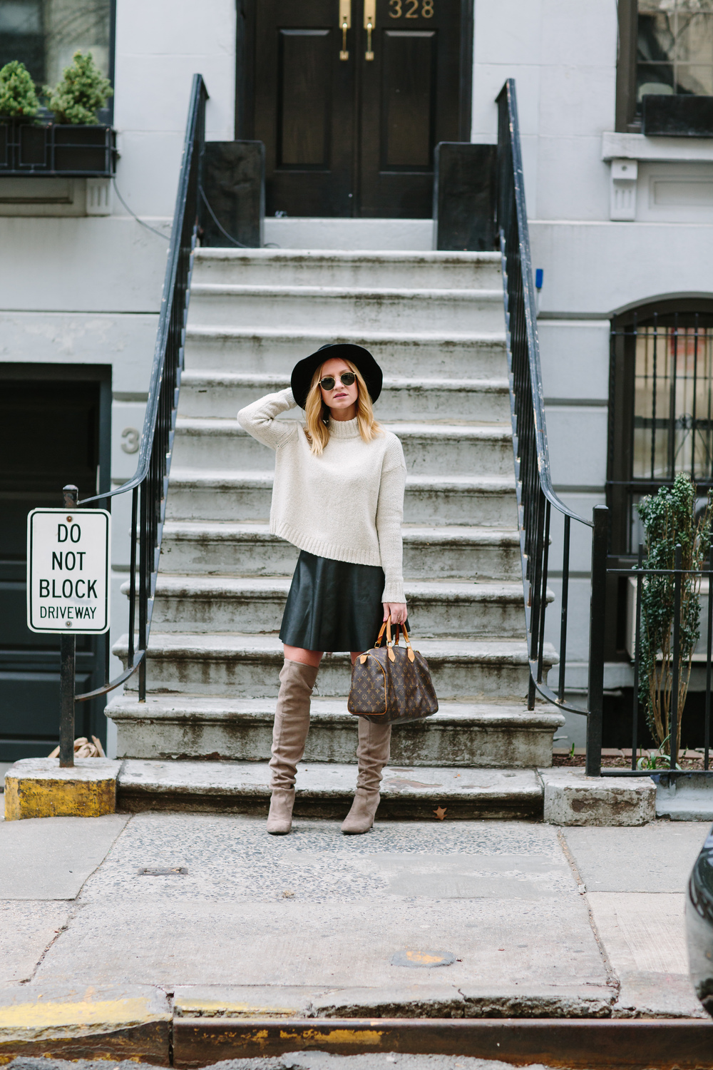 taupe over the knee boot