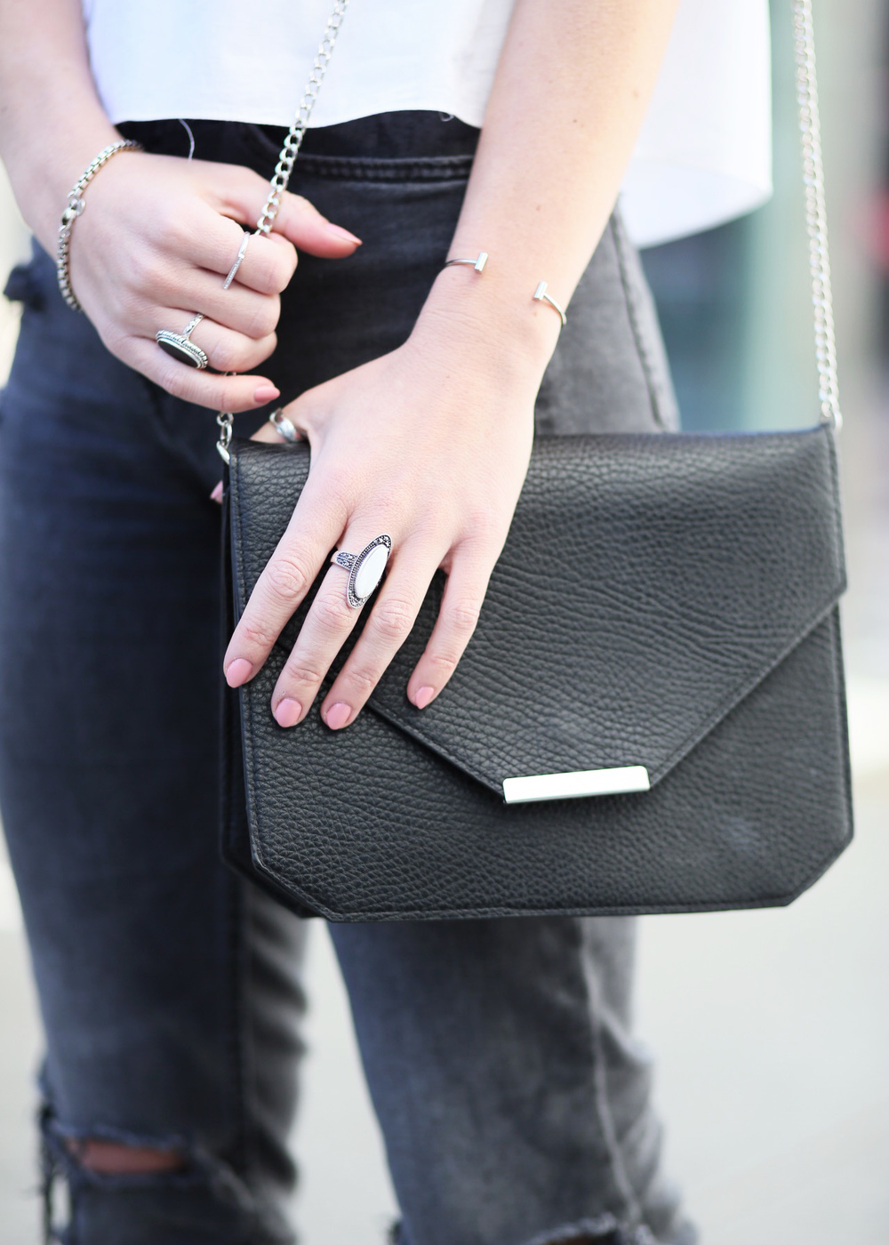 black envelope crossbody