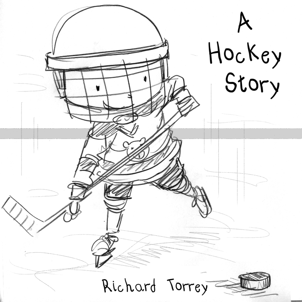 Hockey Story cover sketch 1