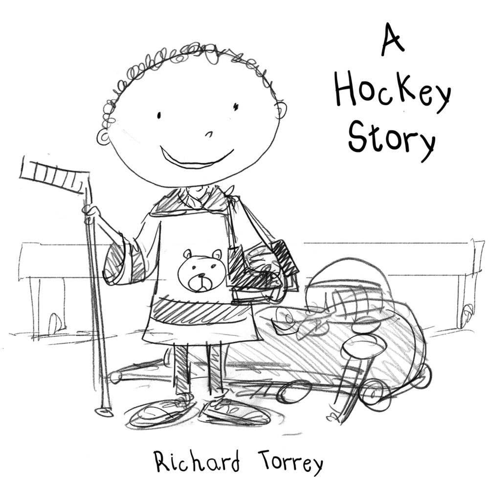 Hockey Story cover sketch 2