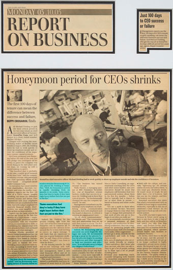 Honeymoon period for CEOs shrinks