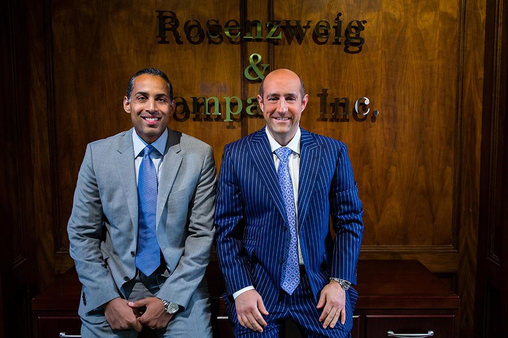 Mandeep Grewal, Deputy Managing Partner, Rosenzweig & Company, with Founder Jay Rosenzweig