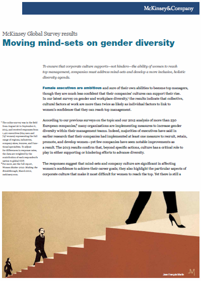 Moving mind-sets on gender diversity: McKinsey Global Survey results