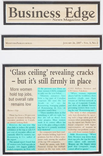 'Glass Ceiling' Cracks - but it's still firmly in place