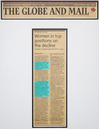 Women in top positions on the decline