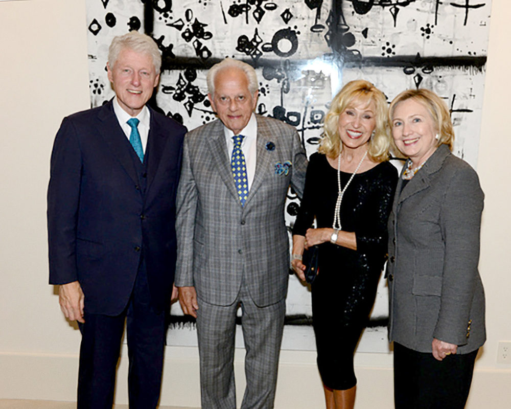 Bill & Hillary Clinton with Rosenzweig & Company Advisors Helen & Stanley Cons