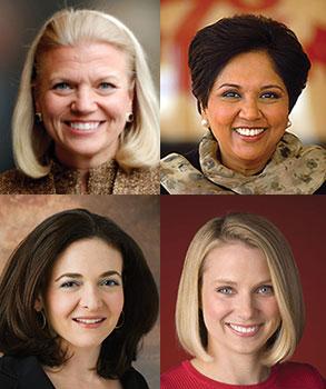 Ginni Rometty - IBM Indra Nooyi - Pepsico Sheryl Sandberg - Facebook Marissa Mayer - Yahoo!