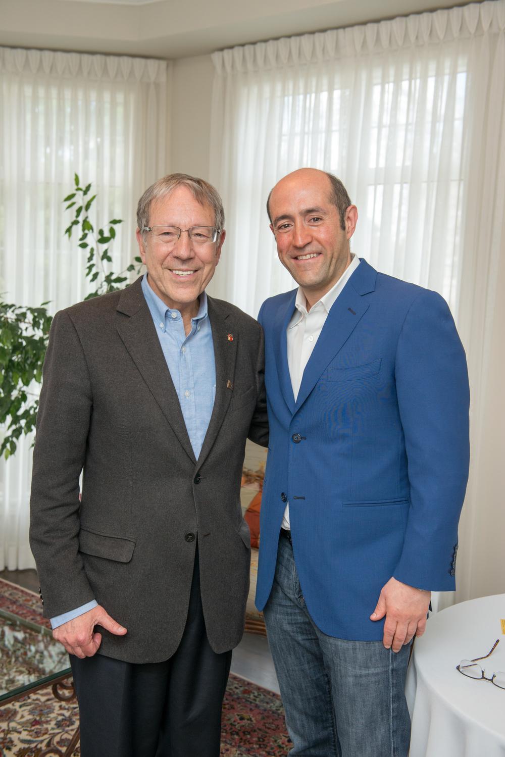 Jay Rosenzweig With Former Professor & Mentor Irwin Cotler