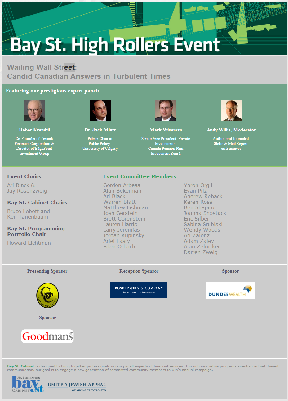 Rosenzweig Sponsors Economic Panel