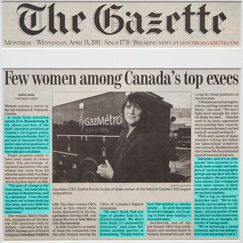 Few women among Canada's top execs