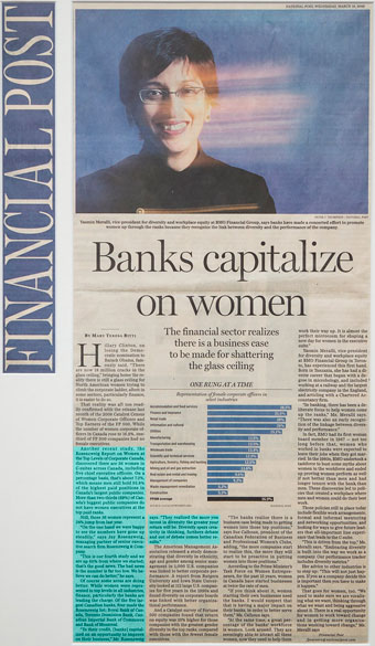 Banks capitalize on women