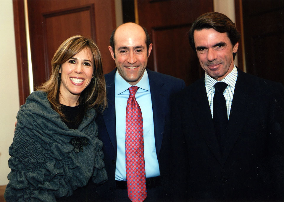 Jay & Renee Rosenzweig with Prime Minister of Spain, Jose Maria