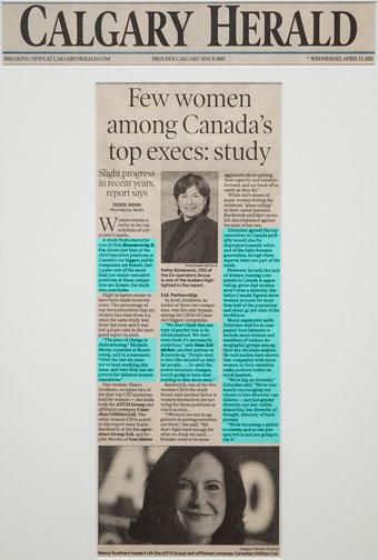 Few women among Canada's top execs: study