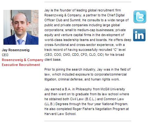 CDO Summit 2014 - Jay Rosenzweig, Speaker