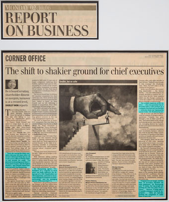 The shift to shakier ground for chief executives